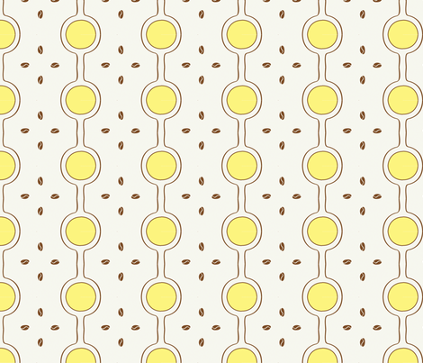 your favorite coffee spot ©2011 Jill Bull fabric by palmrowprints on Spoonflower - custom fabric