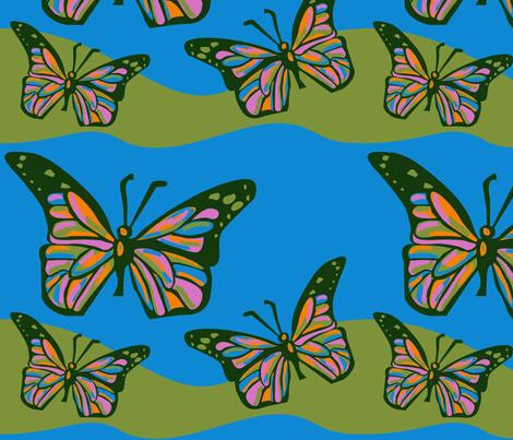 Beauty Flies fabric by lowa84 on Spoonflower - custom fabric