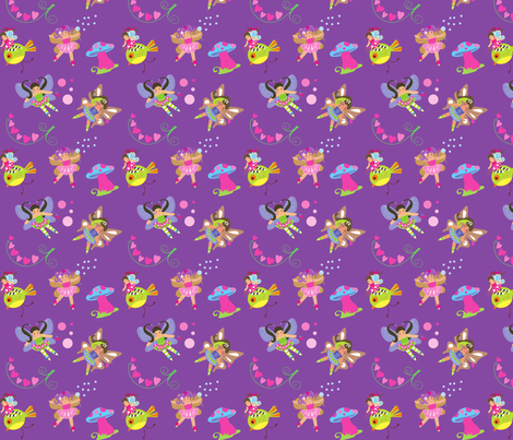 Lil' Fairy fabric by malien00 on Spoonflower - custom fabric