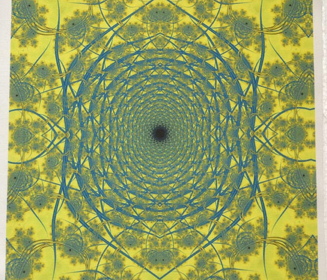 Blue-gold colored Spiral