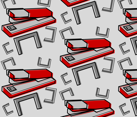 Excuse me, I believe you have my stapler fabric by lowa84 on Spoonflower - custom fabric