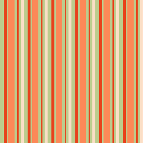 Tomato Stripe fabric by countrygarden on Spoonflower - custom fabric