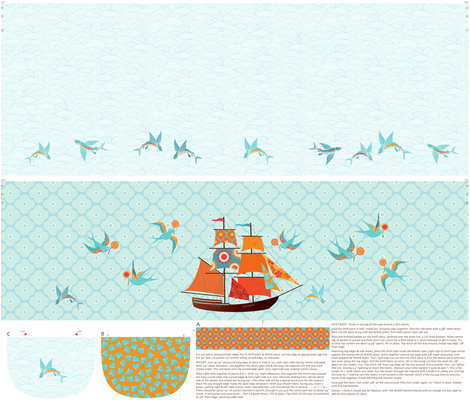 To the High Seas, Girls! fabric by kayajoy on Spoonflower - custom fabric