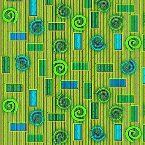 © 2011 Blocks and Swirls Bluegreens