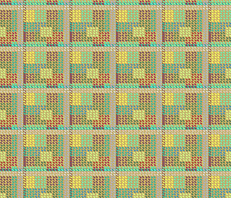 ©2011 Plaid Drops-Muted fabric by glimmericks on Spoonflower - custom fabric