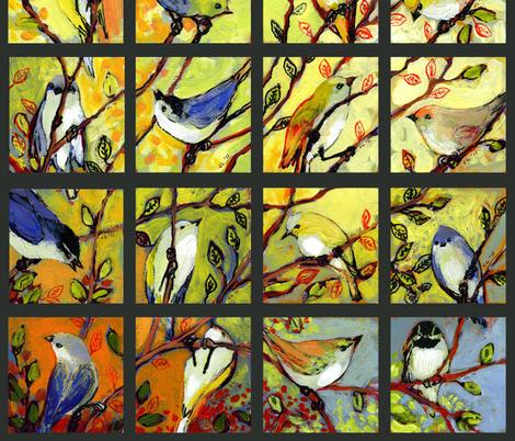 16 Birds fabric by jenlo on Spoonflower - custom fabric