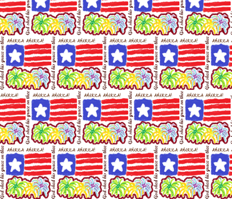 American Fireworks, please zoom fabric by enyahulk on Spoonflower - custom fabric