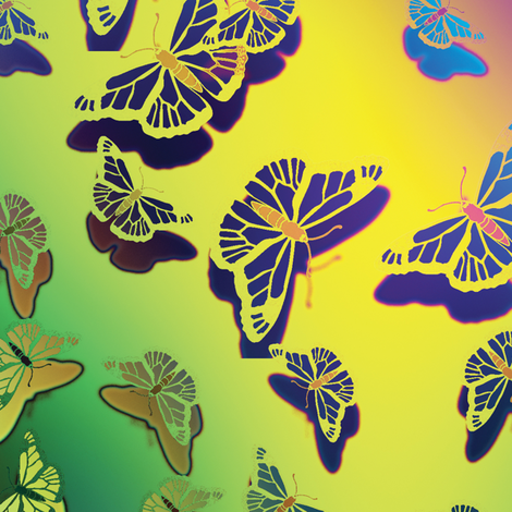 Butterfly Motif 15 fabric by animotaxis on Spoonflower - custom fabric