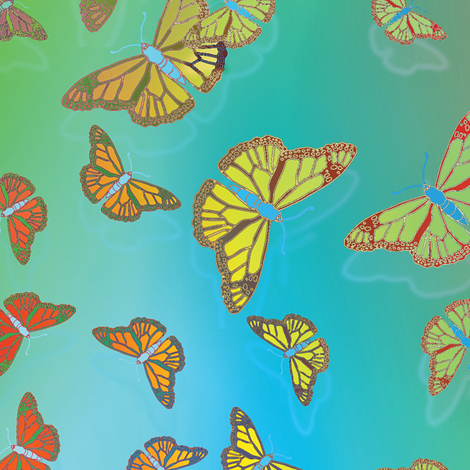 Butterfly Motif 22 fabric by animotaxis on Spoonflower - custom fabric