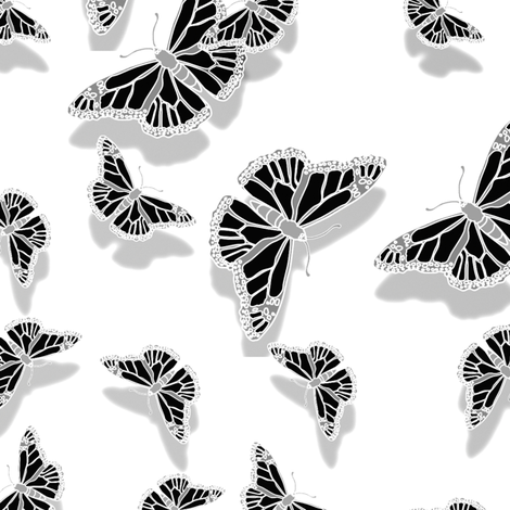 Butterfly Motif 26 fabric by animotaxis on Spoonflower - custom fabric