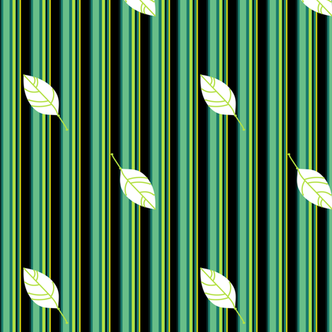 Funky Striped Leaves - Mermaids Calling - © PinkSodaPop 4ComputerHeaven.com fabric by pinksodapop on Spoonflower - custom fabric