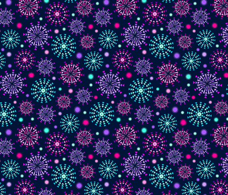 Summer Night Fireworks fabric by myzoetrope on Spoonflower - custom fabric