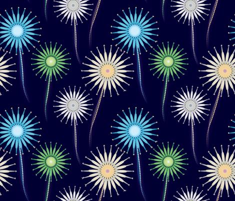 fireworks_flowers fabric by giorgiog on Spoonflower - custom fabric