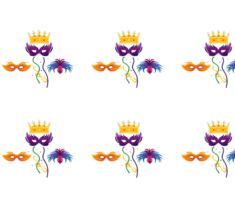 Mardi Gras fabric by monkey_delights on Spoonflower - custom fabric
