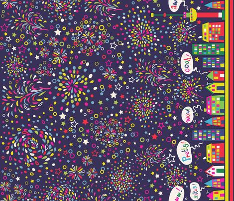 Fireworks in Rotterdam ^^ fabric by irrimiri on Spoonflower - custom fabric