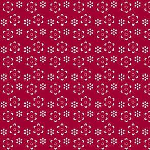 Court & Spark - Scandi Floral Cutout Red on White
