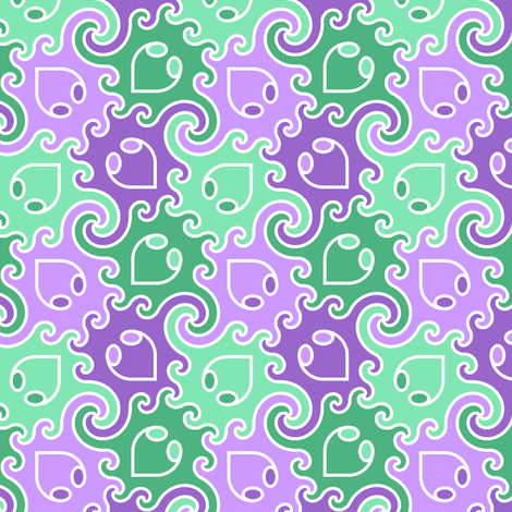 decapod 4-colour (ve) fabric by sef on Spoonflower - custom fabric