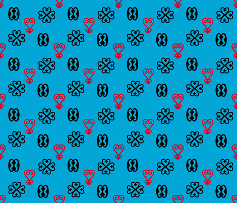 Adinkra repeats fabric by nalo_hopkinson on Spoonflower - custom fabric