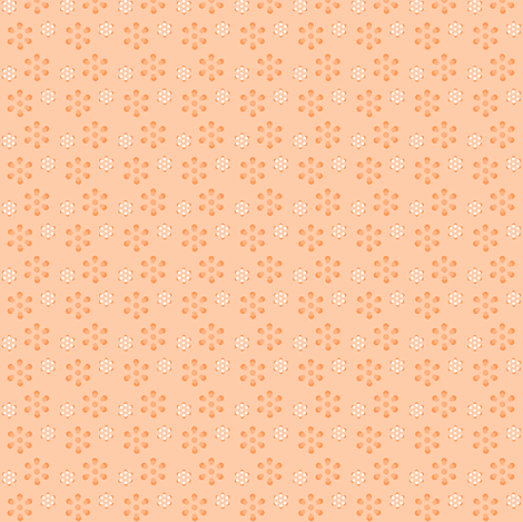 Court & Spark - Scandi Flowers Pale Orange fabric by courtandspark on Spoonflower - custom fabric