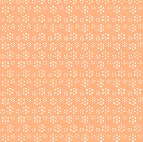 Court & Spark - Scandi Flowers Just Peachy fabric by courtandspark on Spoonflower - custom fabric