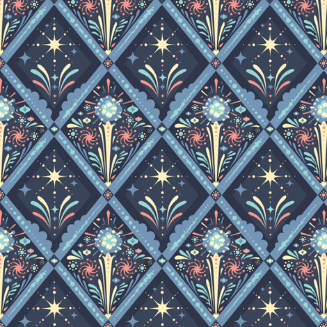 Fireworks at Dusk fabric by theboerwar on Spoonflower - custom fabric
