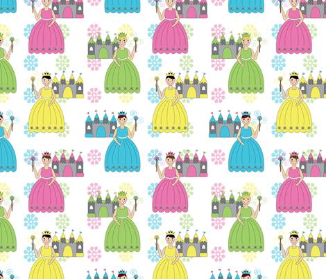 princesses fabric by writefullysew on Spoonflower - custom fabric