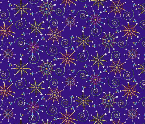 fireworks and fireflies fabric by littlerhodydesign on Spoonflower - custom fabric