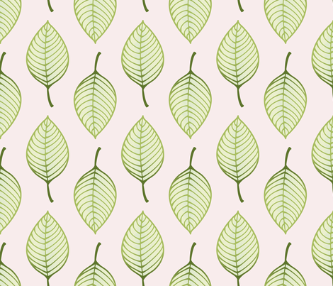 summer leaf small fabric by littlerhodydesign on Spoonflower - custom fabric