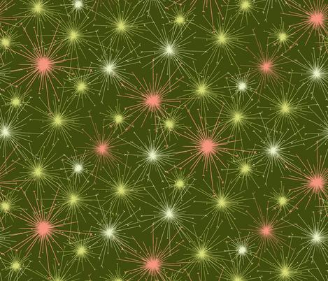Green Sparklers fabric by meduzy on Spoonflower - custom fabric