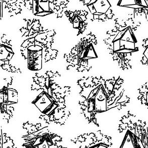 Birdhouse Toile- White