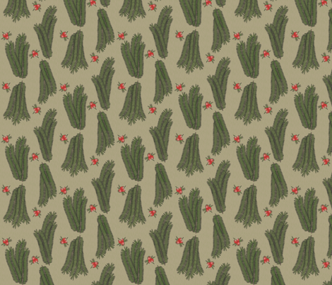 © 2011 Yews for the Holidays fabric by glimmericks on Spoonflower - custom fabric
