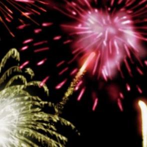 Fireworks Series I - 04Bk - Magenta and Hot White Fireworks on Black