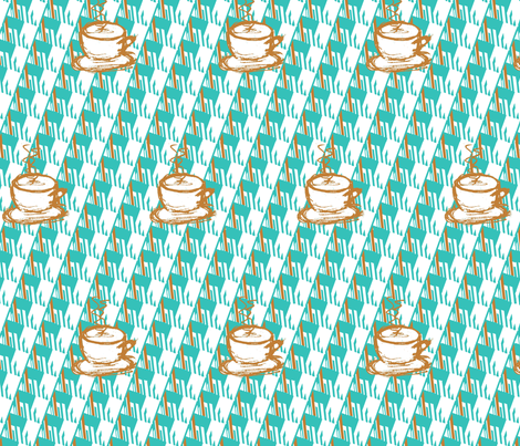 Bright Morning, Hot Coffee fabric by sev on Spoonflower - custom fabric