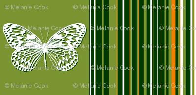 Green striped butterflies