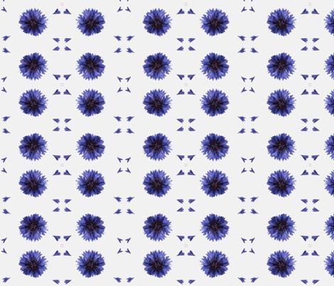 Cornflower petals fabric by miss_blümchen on Spoonflower - custom fabric
