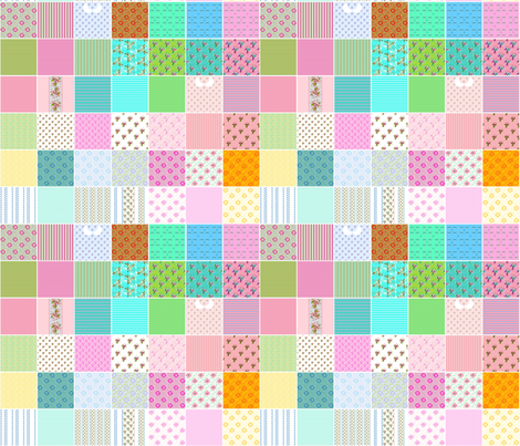 Doll Microprints fabric by joanmclemore on Spoonflower - custom fabric