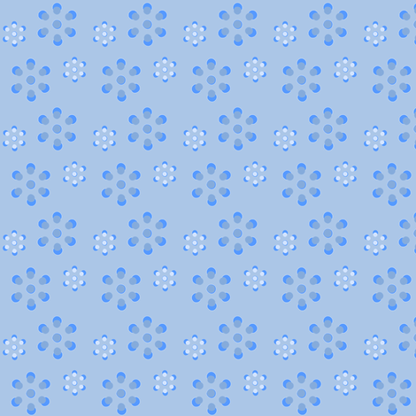 Court & Spark - Scandi Flowers Pale Blue fabric by courtandspark on Spoonflower - custom fabric