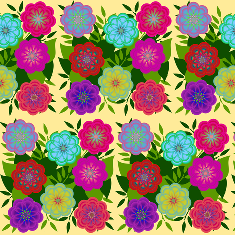 Flower Bed fabric by eclectic_house on Spoonflower - custom fabric
