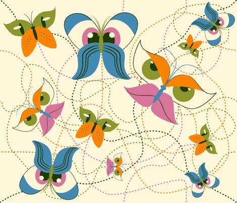 Flutter-by Eyes fabric by whatsit on Spoonflower - custom fabric
