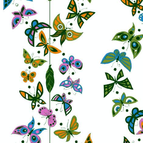 Butterfly Double Helix fabric by ceanirminger on Spoonflower - custom fabric
