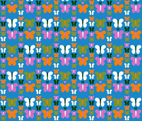 butterflies fabric by nandyc on Spoonflower - custom fabric