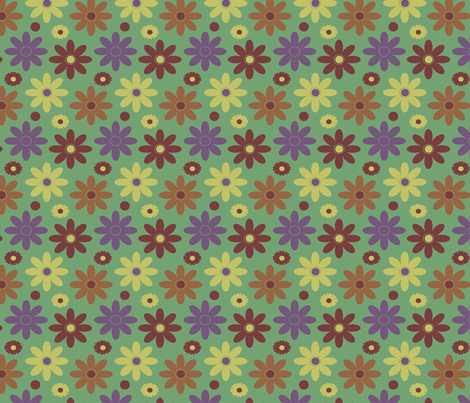 Faded Garden fabric by jozanehouse on Spoonflower - custom fabric