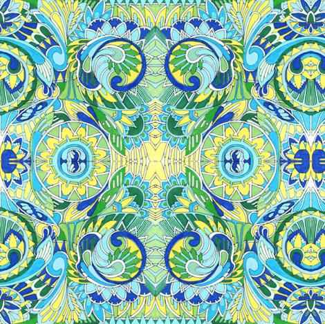 Inca Dinka Deco fabric by edsel2084 on Spoonflower - custom fabric