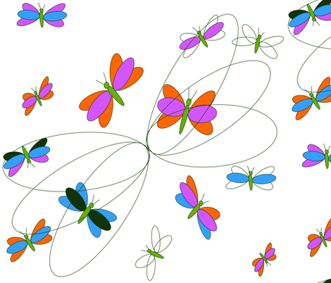 butterfly dance fabric by rockpaperfabric_design on Spoonflower - custom fabric