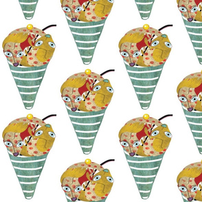 Fox Icecream Fabric