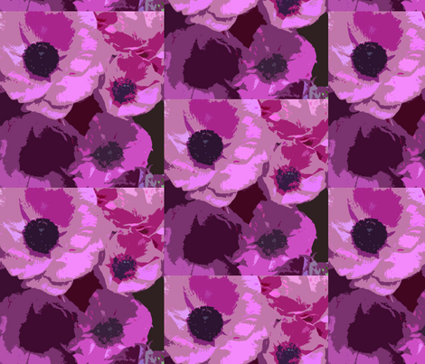 Deep in the Pink - scarf version-ed fabric by susaninparis on Spoonflower - custom fabric