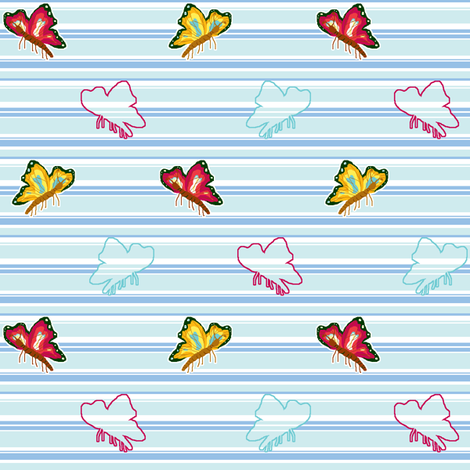 Flutter by Butterfly fabric by mikka on Spoonflower - custom fabric