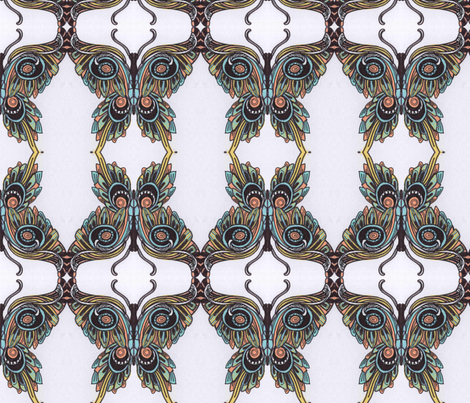 Margarinefly  in original colors fabric by edsel2084 on Spoonflower - custom fabric