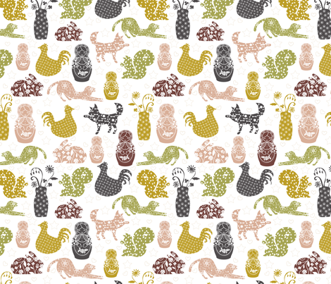 Country Silhouettes fabric by marlene_pixley on Spoonflower - custom fabric