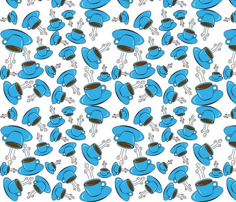 Blue_Coffee2 fabric by redtulip21709 on Spoonflower - custom fabric